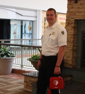 Colonie Center Security Assistant Director Joseph Sholtes, a trained EMT, and Vince Malatino responded with an AED at Colonie Center Mall.