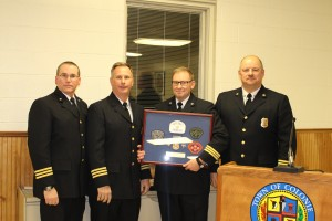Asst. Chief Ray Hughes, Asst. Chief Jack Bevilacqua, Asst. Chief Paul Fink, Chief Peter Berry