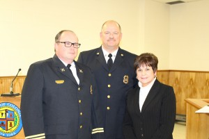 Asst. Chief Chris Kostyun, Chief Peter Berry, Town Supervisor Paula Mahan