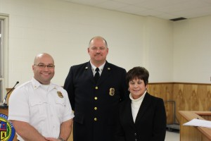 Captain Chris Rench, Chief Peter Berry, Town Supervisor Paula Mahan